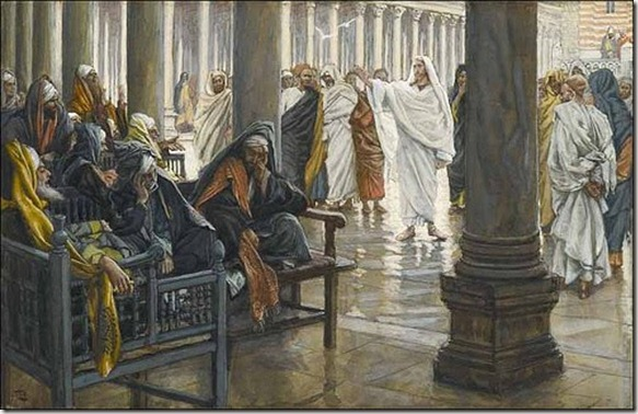 jesus teaches in the temple