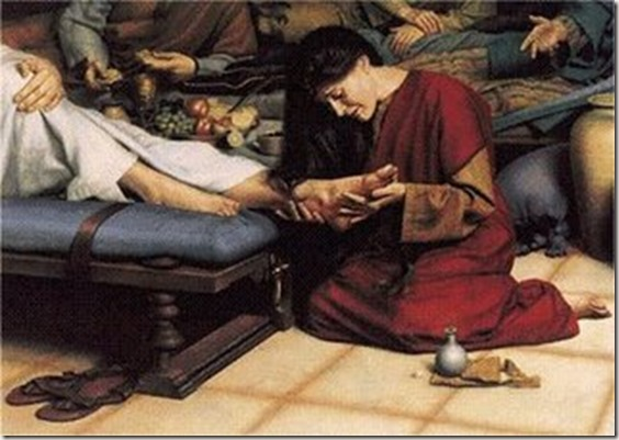 anointing of feet of Jesus